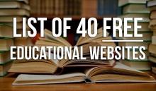 List of 40 FREE Educational Websites