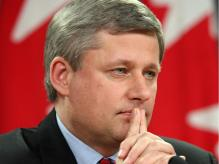 Ottawa, ON November 09, 2007 - Canada's Prime Minister, Stephen Harper held a press conference in Ottawa, Friday, November 09, 2007.  Photo by Jean Levac, The Ottawa Citizen, Canwest News Services (For Ottawa Citizen story by ???, NATIONAL) ASSIGNMENT NUMBER ?????