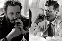 Fidel-Castro-John-F-Kennedy-with-Cigar