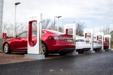 Teslas charging-xlarge