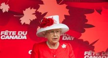 Britain's Queen Elizabeth II delivers a speech during Canada Day celebrations on Parliament Hill in Ottawa on Thursday July 1, 2010. The queen and Prince Philip are on a nine-day tour of Canada. (AP Photo/The Canadian Press, Sean Kilpatrick)