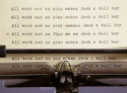 Jonathan Green, Author: All work and no play makes Jack a dull boy...