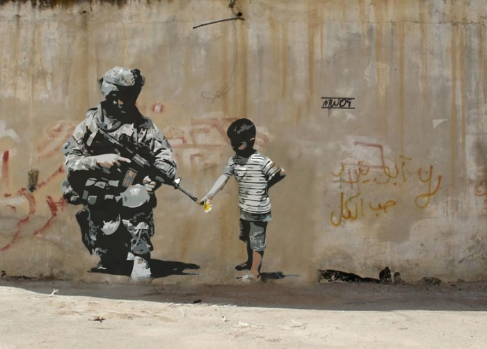 """... and Theology: The Controversial Art of Banksy, """"We Reap What We Sow"""