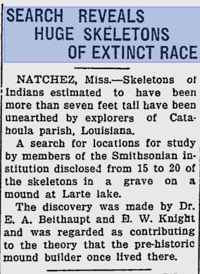 'Did Giants Exist?', Legends and America's Giant Skeletons (Part 1)  Giant-newspaper