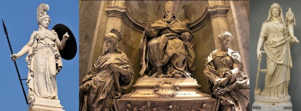 The Dark Secret of the Vatican Pagan Gods Statue-of-athena-fortune