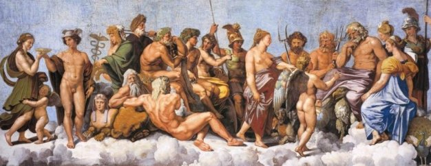 The Dark Secret of the Vatican Pagan Gods The-gods-of-olympus-by-raphael