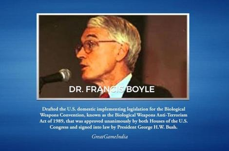 CoV UPDATE - Coronavirus Is Biological Warfare Weapon plus MORE Dr-francis-boyle-coronavirus-biological-warfare-weapon